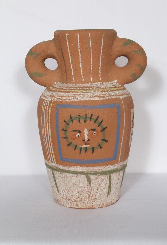 Pablo Picasso, 'Vase avec decoration pastel (Vase with Pastel Decorations)', 1953, Design/Decorative Art, Chamotted red earthenware clay, pastel decoration, RoGallery