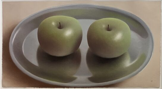 Robert Peterson (1943-2011), 'Two Apples on Plate', ca. 1990
