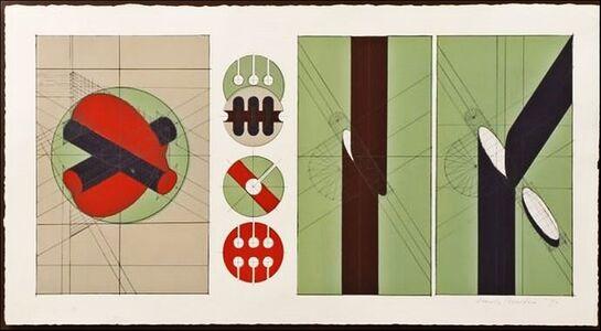 Arnaldo Pomodoro, 'Untitled Geometric Abstraction (Framed) ', 1970