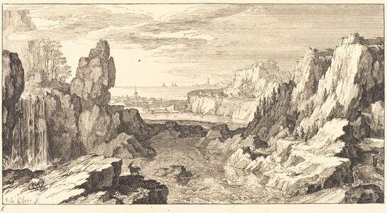 Sébastien Le Clerc I, 'Mountain Landscape', 1673