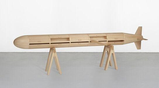 Los Carpinteros, 'Breadbox',  2004 madeira Edição: 5/5 87-6 x 312 x 46 cm