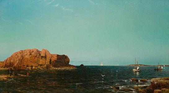 Arthur Quartley, 'Indian Rock, Narragansett Bay, R. I.', 1875