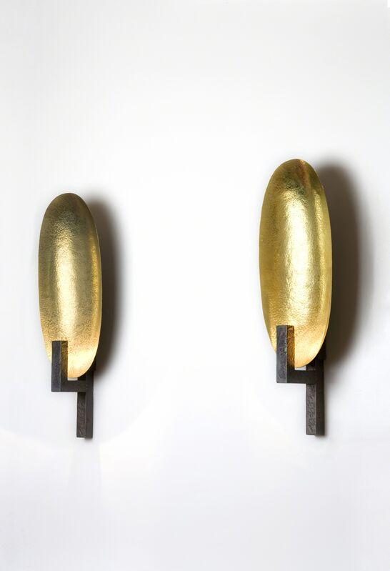 Hervé van der Straeten, 'Applique Coque', 2004, Design/Decorative Art, Patinated bronze, hammered brass, Maison Gerard