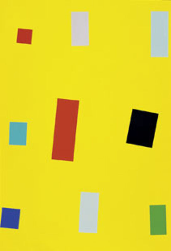 Imi Knoebel, 'Gelbe Fahne (Yellow Flag)', 1999, Print, Silkscreen on rag paper, Schellmann Art