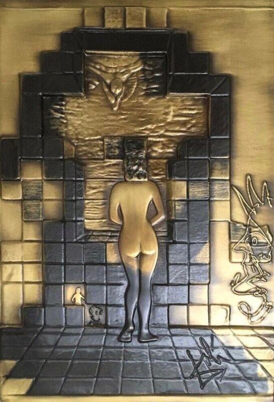 Salvador Dalí, 'Lincoln in Dalivision (Bas Relief Bronze Cast Sculpture)', 1979, Sculpture, Bronze, Art Commerce