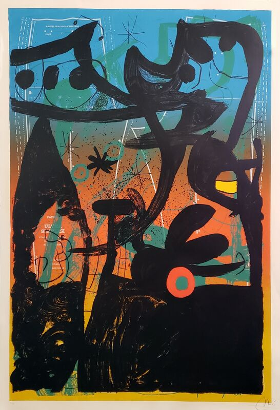 Joan Miró, 'Mannequin Parade in Bahia ', 1969, Print, Color lithograph on wove paper, Off The Wall Gallery