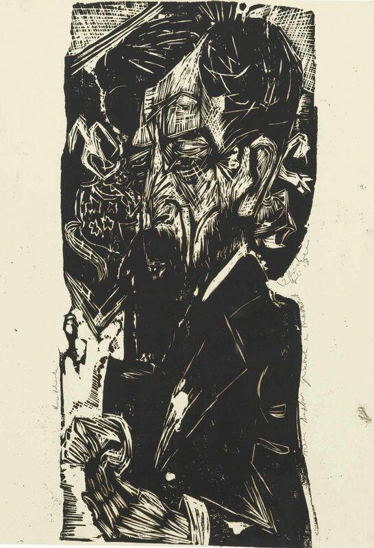 Ernst Ludwig Kirchner, 'Portrait of Willem van Vloten', 1918, Print, Woodcut on ivory wove paper, Christie's