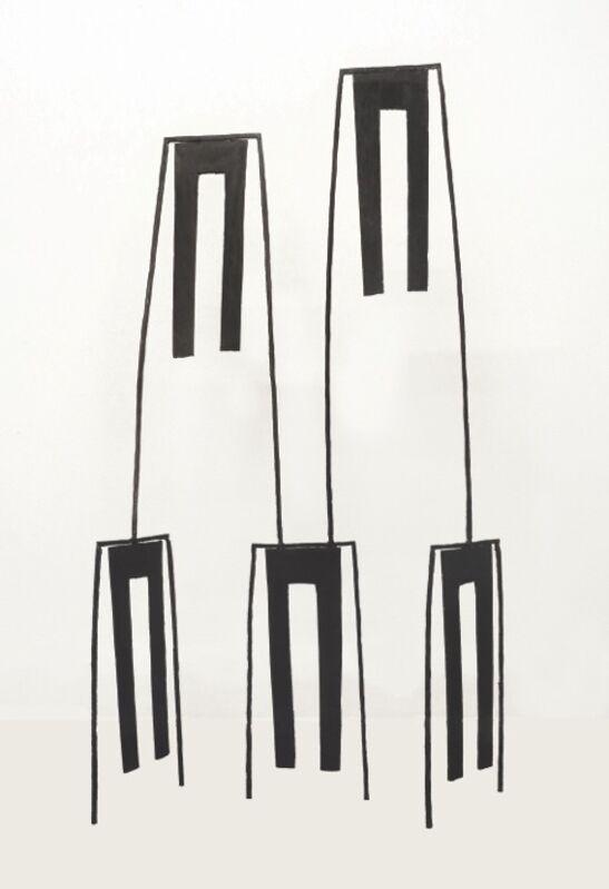 Dominique Labauvie, 'Hanging Scrolls', 2014, Sculpture, Forged steel, Mindy Solomon Gallery
