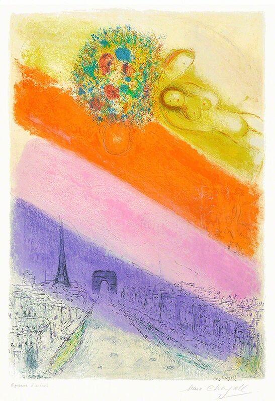 Marc Chagall, 'Les Champs-Elysées', 1954, Print, Color Lithograph, Masterworks Fine Art