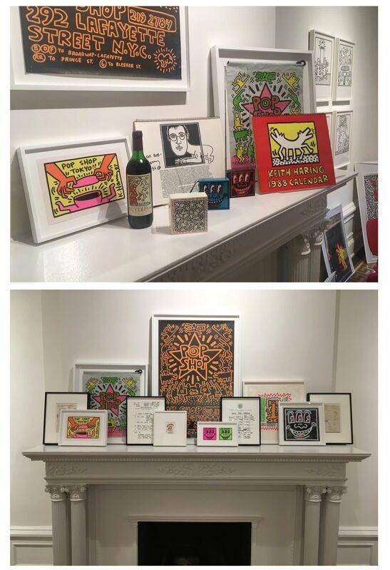 "Keith Haring, 'SET of TWO- ""POP SHOP NYC"", 1980's, Plastic Drawstring Shopping Bag, Double-Sided.', 1980's, Ephemera or Merchandise, Plastic, VINCE fine arts/ephemera"