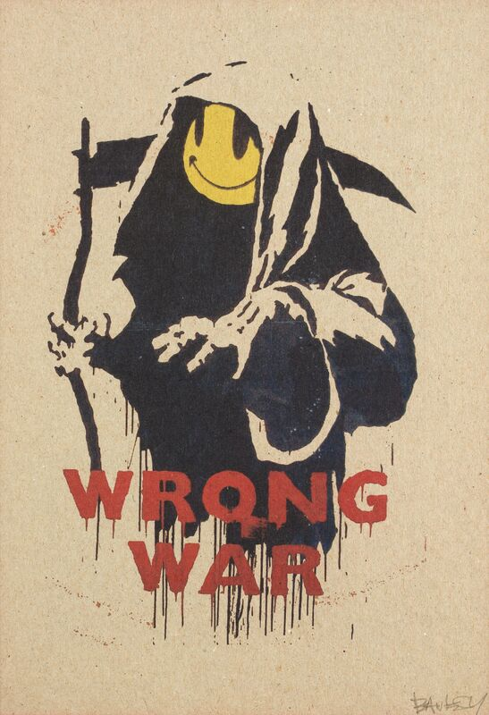Banksy, 'Wrong War', 2004, Print, Screen print in colours on brown card, Tate Ward Auctions