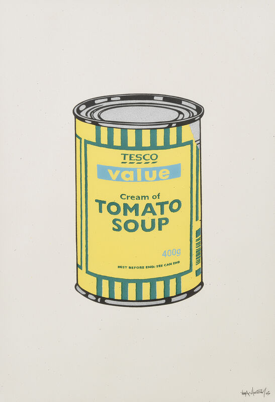 Banksy, 'Soup Can (Yellow, Emerald, Sky Blue )', 2005, Print, Screenprint in colours on wove paper, Tate Ward Auctions