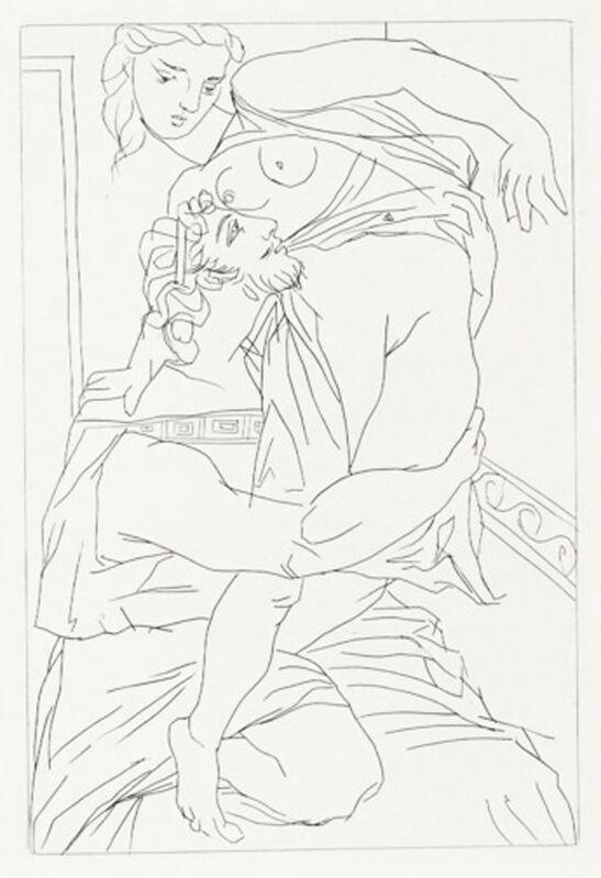 Pablo Picasso, 'Cinesias et Myrrhine', 1934, Print, Etching, Georgetown Frame Shoppe
