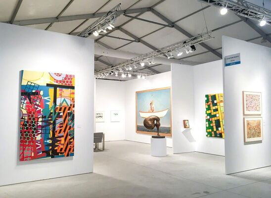 Allan Stone Projects at Art Miami 2018, installation view