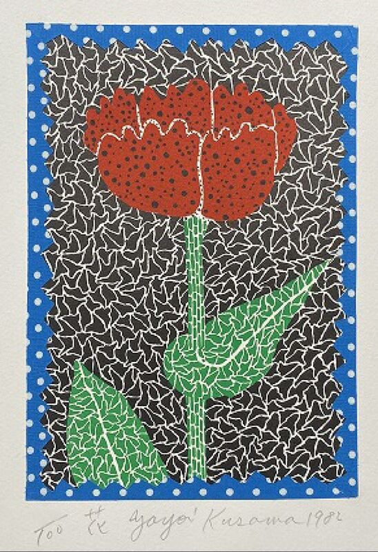 Yayoi Kusama, 'Flower (Kusama 10)', 1982, Print, Lithograph, collage, Lougher Contemporary