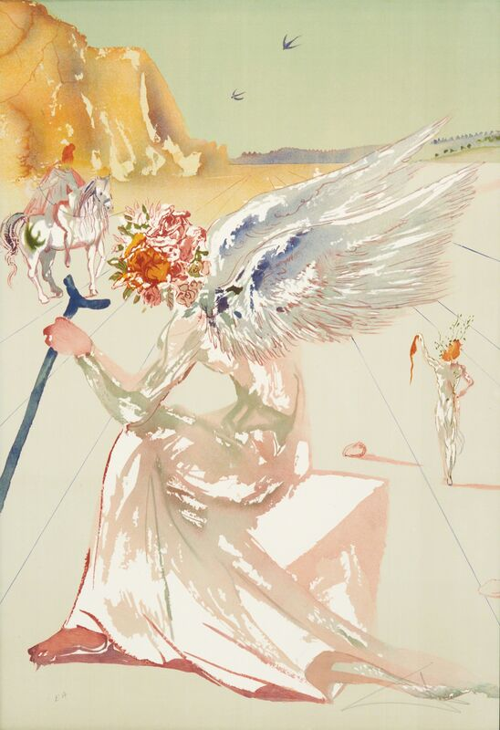 Salvador Dalí, 'Return of Ulysses/Helen of Troy from Hommage à Homère', 1977, Print, Two lithographs in colors (in hardcover portfolio), Rago/Wright/LAMA