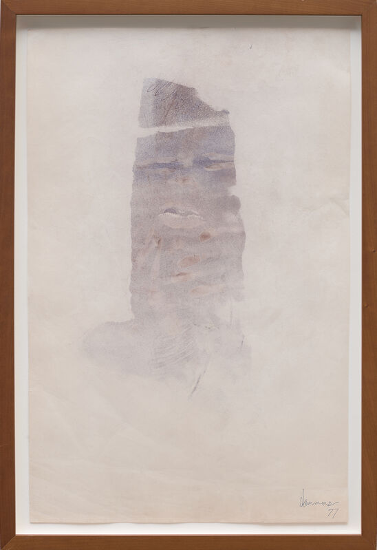 David Hammons, 'Body Print', 1977, Drawing, Collage or other Work on Paper, Pigment on paper, White Cube