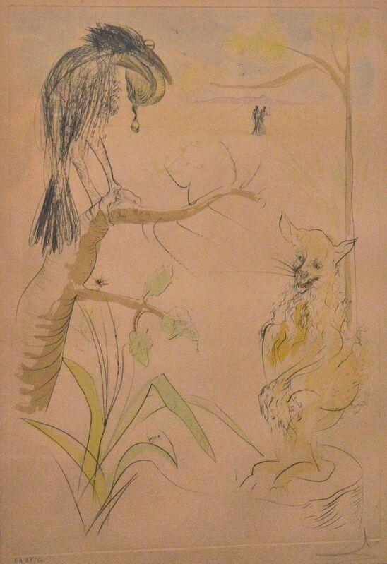 Salvador Dalí, 'Le Bestiaire de la Fontaine Dalinisé', 1974, Print, Drypoint and pochoir on strong paper, Wallector