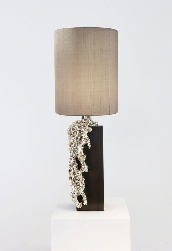 Mattia Bonetti, 'Table Lamp, 'Garda Bronze'', 2016, Design/Decorative Art, Bronze silver plated, patinated brass, silk shade, David Gill Gallery