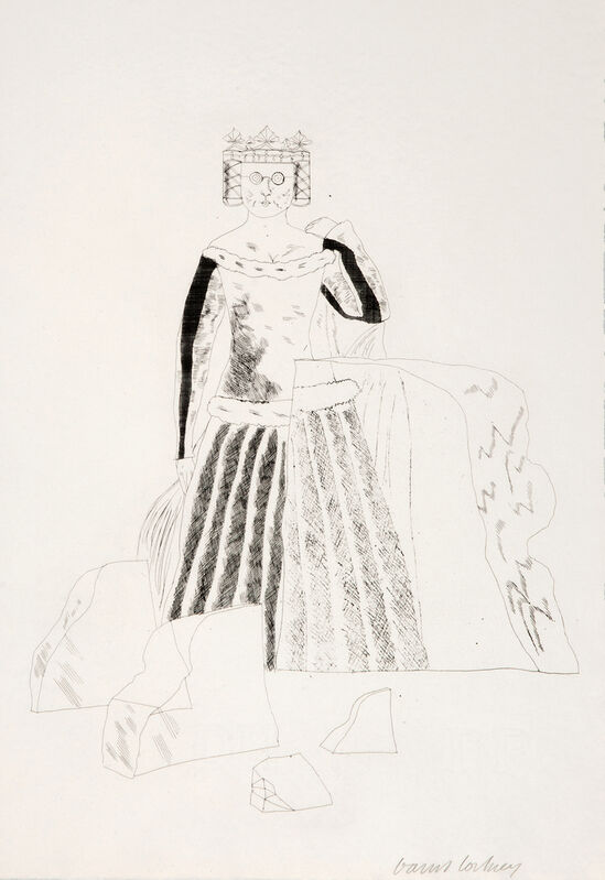 David Hockney, 'The Princess after many years in the Glass Mountain', 1969, Print, Etching and Aquatint, Gerrish Fine Art