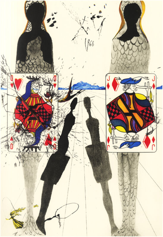 Salvador Dalí, 'The Queen's Croquet Ground', 1969, Drawing, Collage or other Work on Paper, Engraving + Heliogravures with original woodcut remarque, Dali Paris