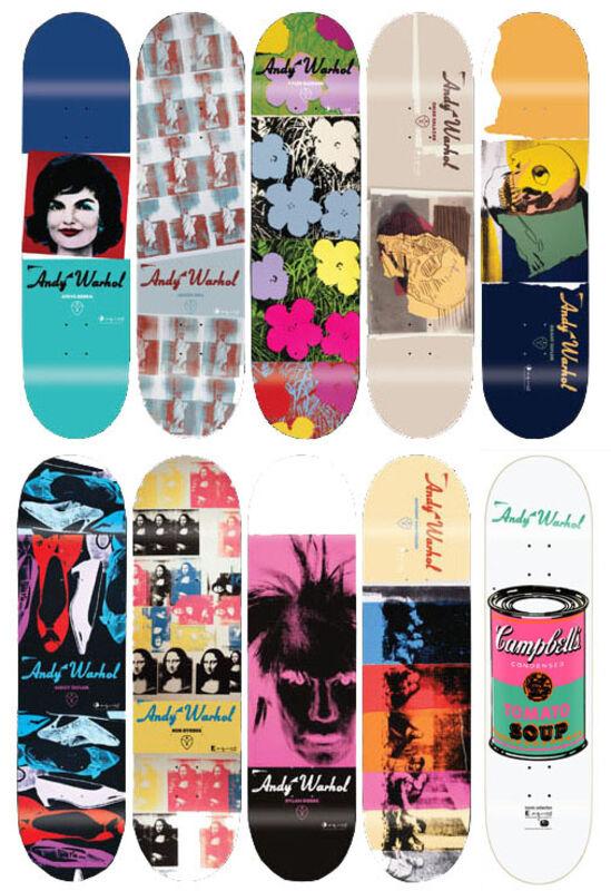 Andy Warhol, 'Skateboards II (Set of 10)', 2010, Print, Screenprint on skateboard decks, EHC Fine Art