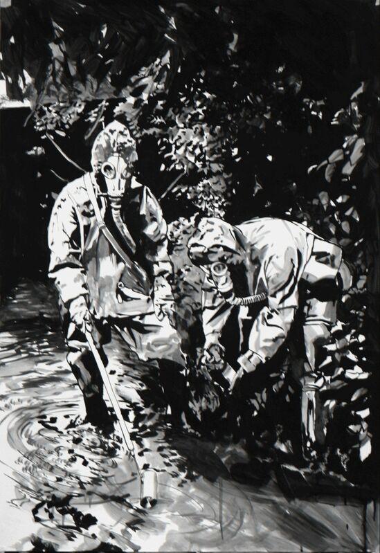 Sebastian Nebe, 'Wasserprobe', 2005, Painting, Oil on paper, Galerie Kleindienst