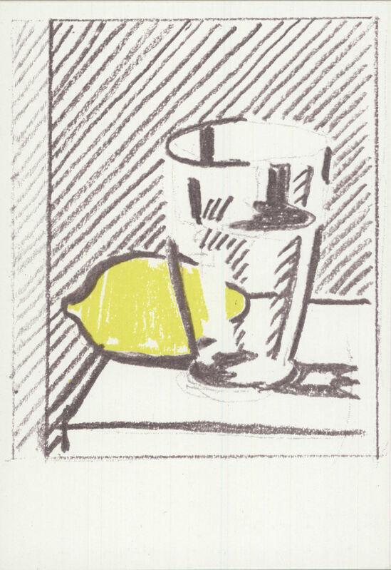 Roy Lichtenstein, 'Glasss and Lemon', 1973, Ephemera or Merchandise, Offset Lithograph, ArtWise