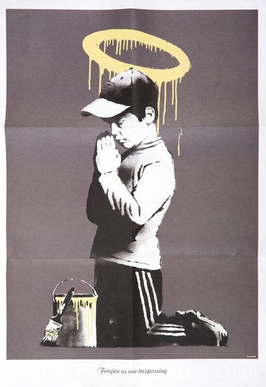 Banksy, 'Forgive Us Our Trespassing', 2010, Ephemera or Merchandise, Offset lithograph in colours, two sided promotional poster for the 2010 documentary Exit Through The Gift Shop, Tate Ward Auctions