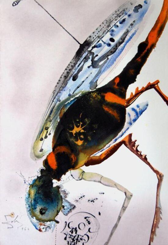 Salvador Dalí, 'Locust And Grasshopper', 1967, Print, Original colored lithograph on heavy rag paper, Baterbys