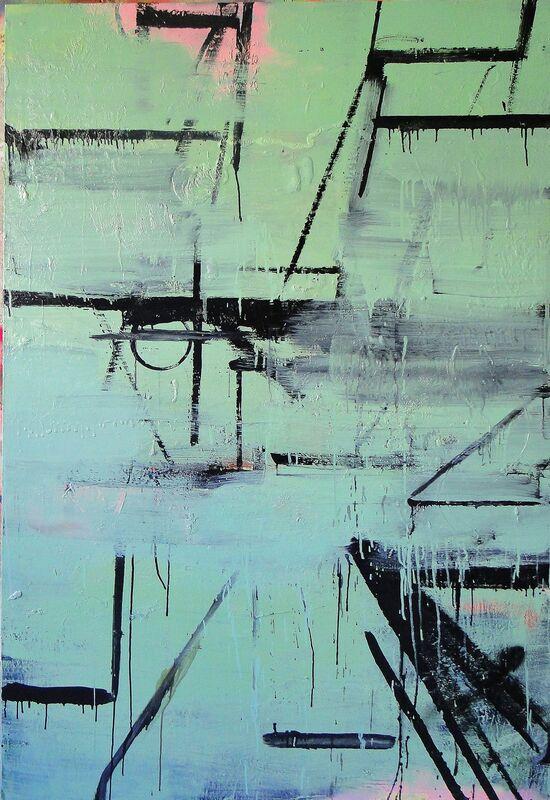 Alvaro Seixas, 'Pintura Sem Título (Sade escapa da Bastilha)', 2016, Painting, Enamel and oil on linem, Roberto Alban Galeria de Arte