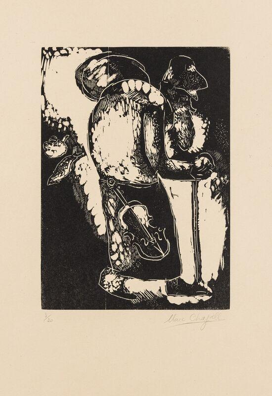 Marc Chagall, 'L'Homme au Sac (Kornfeld 33 II b)', Print, Wood engraving, Forum Auctions