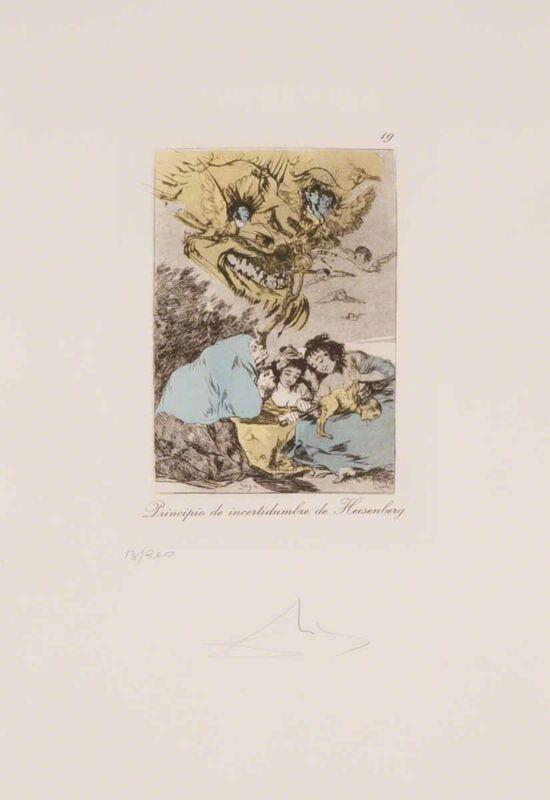Salvador Dalí, 'Principio de incertidumbre de Heisenberg (Les Caprices de Goya de Dalí, #19)', 1977, Print, Drypoint etching on heliogravure, Martin Lawrence Galleries