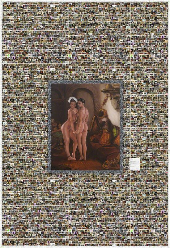 Shoja Azari, 'Oriental Interior or Bunnies R Us', 2013, Installation, Oil on canvas mounted on wallpaper, Leila Heller Gallery