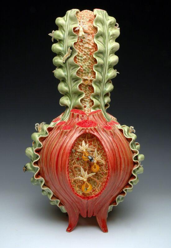Bonnie Seeman, 'Vase Form ', 2008, Sculpture, Colored Porcelain, Glass, Glaze, Duane Reed Gallery