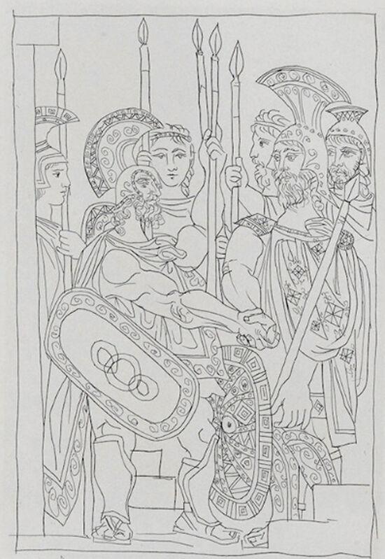 Pablo Picasso, 'Accord Entre les Atheniens et les Spartiates', 1934, Print, Etching, Georgetown Frame Shoppe