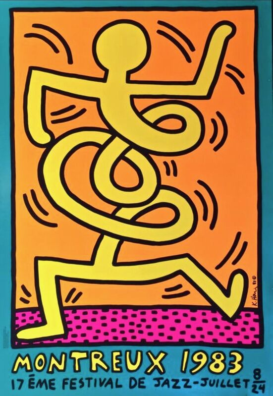 Keith Haring, 'Montreux Jazz Festival (Yellow)', 1983, Print, Screenprint in colors on hot pressed wove paper, Artsy x Capsule Auctions