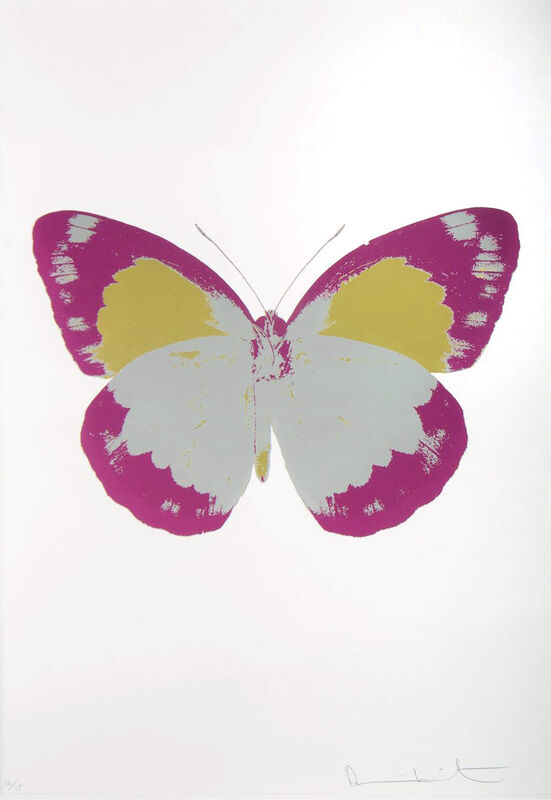 Damien Hirst, 'The Souls II (Silver Gloss, Fushia Pink, Oriental Gold)', 2010, Mixed Media, Three Colour Foil Block 12/15, Wentworth Galleries