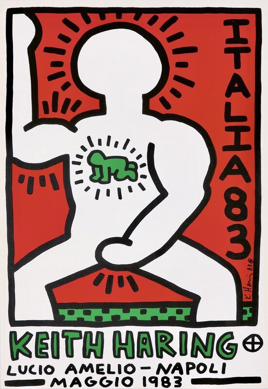 Keith Haring, 'Keith Harin Lucio Amelio Italia 83 poster ', 1983, Posters, Offset lithograph, Lot 180