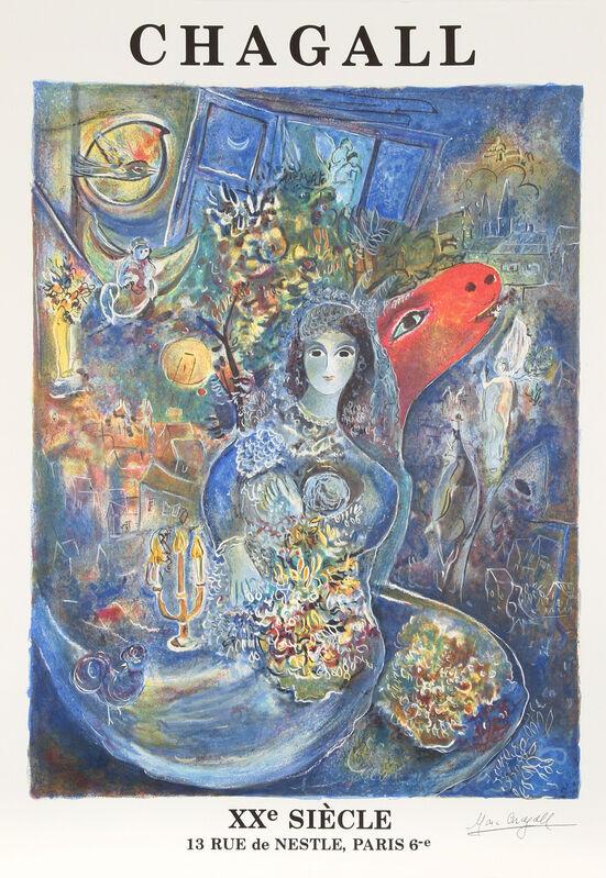 Marc Chagall, 'XX Siecle', circa 1975, Ephemera or Merchandise, Lithograph Poster, RoGallery