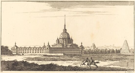 Sébastien Le Clerc I, 'Landscape with Monastery', 1673