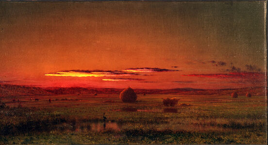 Martin Johnson Heade, 'Gathering Hay in the Salt Marshes', 1876-1882