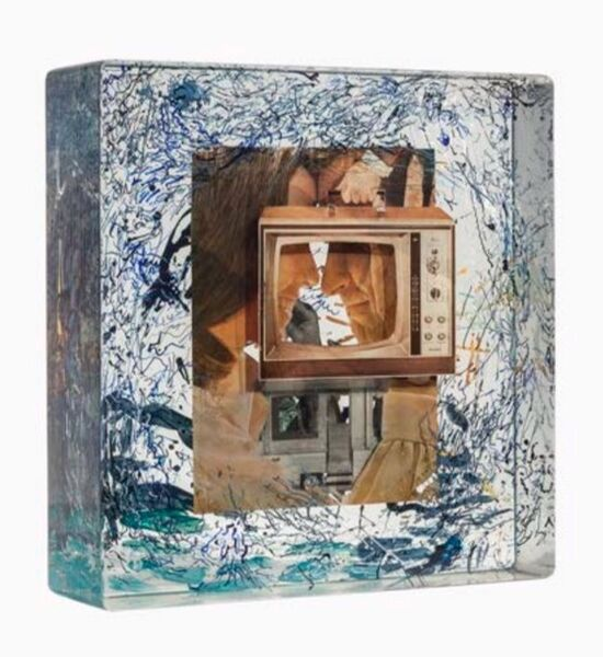Dustin Yellin, 'Static White Couple', 2014