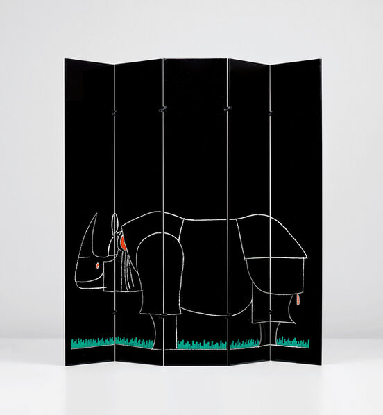 Claude & François-Xavier Lalanne, ''Rhinocéros' five-panelled screen, from the 'Ultramobile' series', 1971-1976