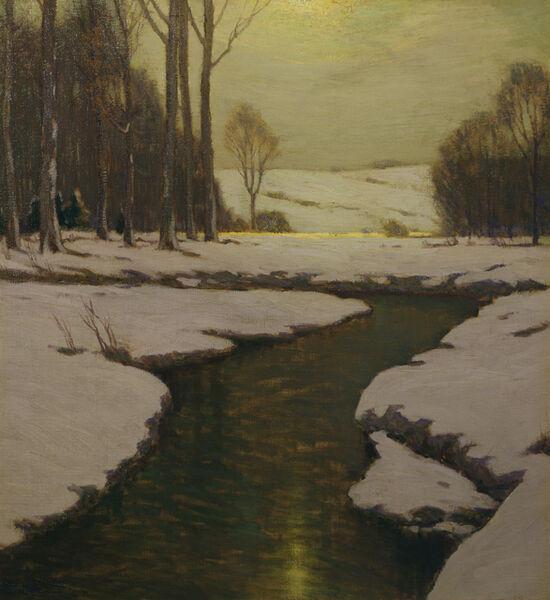 Charles Warren Eaton, 'Melting Snow', ca. 1900