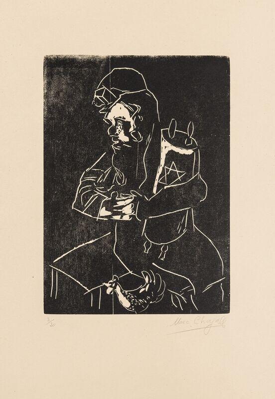 Marc Chagall, 'Juif à la Thora (Kornfeld 35 c)', Print, Wood-engraving, Forum Auctions