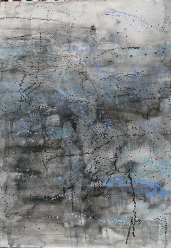 RUTH MORÁN, 'Filamentos', 2010, Painting, Mixed media on paper, Galeria Joan Gaspar