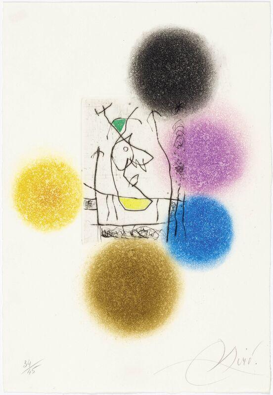 Joan Miró, 'From: Miranda et la Spirale', 1979, Print, Colour etching and -aquatint, Koller Auctions