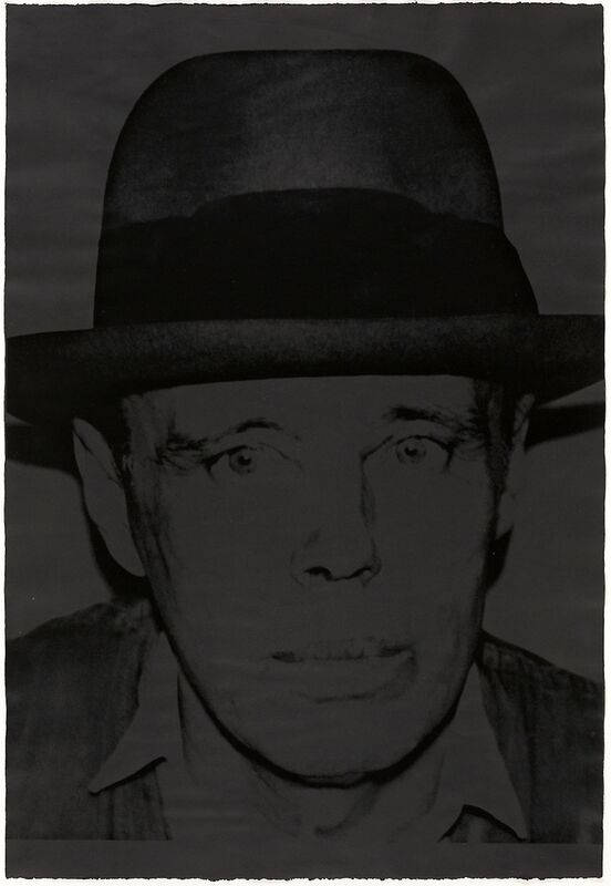 Andy Warhol, 'Joseph Beuys', 1980, Print, Screenprint on Arches Cover Black paper, Zeit Contemporary Art