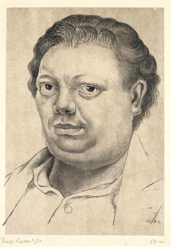 Diego Rivera, 'Autorretrato (Self Portrait)', 1930, Print, Lithograph with gray tint stone, Blanton Museum of Art